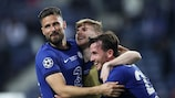 Olivier Giroud, Timo Werner e Ben Chilwell festeggiano il trionfo del Chelsea