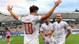 España celebra su gol de la victoria