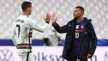 Kylian Mbappé e Cristiano Ronaldo preparam-se para mais um confronto, agora no UEFA EURO 2020