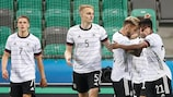 Deutschland feiert den Treffer gegen Portugal