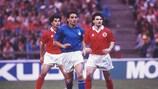 Роберто Манчини против Швейцарии в 1992 году