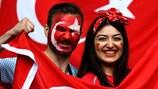 Turkey fans enjoy the atmosphere at EURO 2016