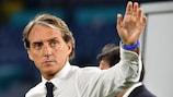 La gioia di Mancini dopo aver vinto la prima per l'Italia