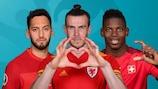 Hakan Çalhanoğlu, Gareth Bale und Breel Embolo