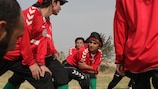 Khalida uses a lifelong love of football to inspire other women