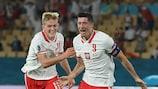Spain pegged back by Lewandowski