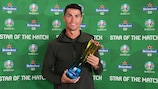 Cristiano Ronaldo collects his sixth man of the match award
