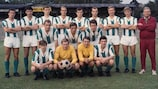 Toni Fritsch (far left, second row) lines up with Rapid Wien in 1968