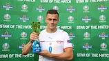 Tomáš Holeš fue la Estrella del Partido contra Holanda