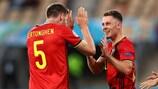 Thorgan Hazard celebra el 1-0