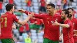 Cristiano Ronaldo feiert sein Tor gegen Deutschland