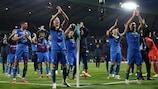 Ukraine celebrate round of 16 victory over Sweden