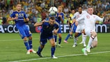 Andriy Shevchenko, now Ukraine coach, in action against England at EURO 2012