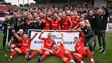 Larne celebrate Europa Conference League qualification