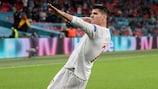 Álvaro Morata, máximo goleador de España en fases finales de EURO, con 6 goles