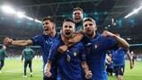 L'Italie fête sa qualification à Wembley