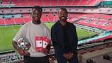 UK winner @mosduckrell with former England defender Ashley Cole at Wembley