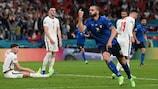 Leonardo Bonucci fête le 142e et dernier but de l'UEFA EURO 2020