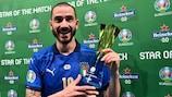 Leonardo Bonucci, migliore in campo in finale contro l'Inghilterra