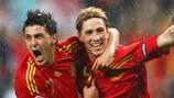 David Villa y Fernando Torres, en la EURO 2008