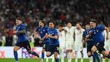 L'Italia festeggia la vittoria contro l'Inghilterra nella finale di UEFA EURO 2020