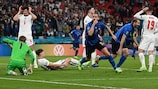 Leonardo Bonucci wheels away after scoring for Italy in the final