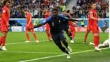 Samuel Umtiti scored France's winner against Belgium in the 2018 World Cup semi-finals