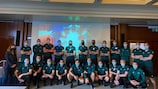 The EURO video assistant referees at their EURO integrity briefing