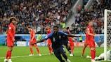 Samuel Umtiti ha segnato il gol della vittoria francese contro il Belgio nella semifinale dei mondiali 2018