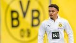 Donyell Malen training with new club Dortmund in Switzerland