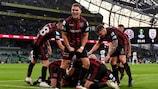 Bohemian jubelt über den zweiten Treffer gegen PAOK