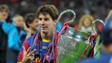 Messi con la Champions conquistada en 2011