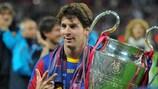 Lionel Messi nach dem Triumph in der UEFA Champions League 2011