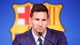 Lionel Messi confirms his departure on Sunday