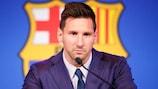 Lionel Messi confirmou o seu adeus a Barcelona