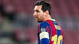 Lionel Messi is up to 123 goals in UEFA competitions