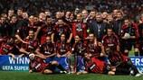 El Milan con el título logrado en 2007