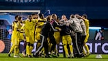 Sheriff celebrate becoming the first Moldovan side to reach the group stage