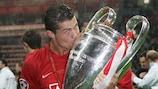 Cristiano Ronaldo nach dem Gewinn der Königsklasse mit Manchester United im Jahr 2008