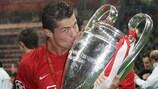 Криштиану Роналду после победы в Лиге чемпионов-2008