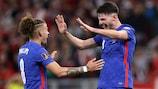 Declan Rice enjoys scoring England's fourth goal in Hungary