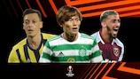 Mesut Özil (Fenerbahçe), Kyogo Furuhashi (Celtic) and Saïd Benrahma (West Ham)