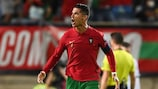 Cristiano Ronaldo struck twice against the Republic of Ireland in World Cup qualifying