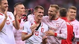 Les Polonais fêtent leur nul 1-1 face à l'Angleterre