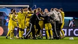 Sheriff celebrate their shock play-off success against Dinamo Zagreb