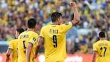 Stipe Perica celebrates his historic goal