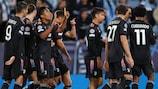 Alex Sandro dopo il primo gol della Juventus