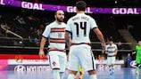 Ricardinho marcou o seu primeiro golo desde o regresso após  lesão na vitória de Portugal sobre as Ilhas Salomão