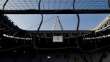 Juventus and Chelsea meet in the stadium that will stage May's final