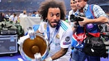 Marcelo celebrates one of his four UEFA Champions League titles